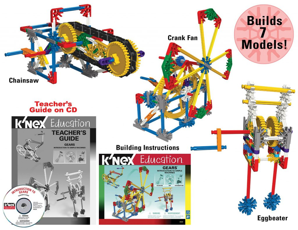 Learn about how gears work by building working models of real-world machines